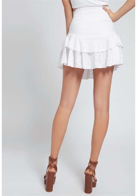 GONNA IN PIZZO SAN GALLO GUESS GUESS | Gonna e Shorts | W1GD0FKALQ0WHITE