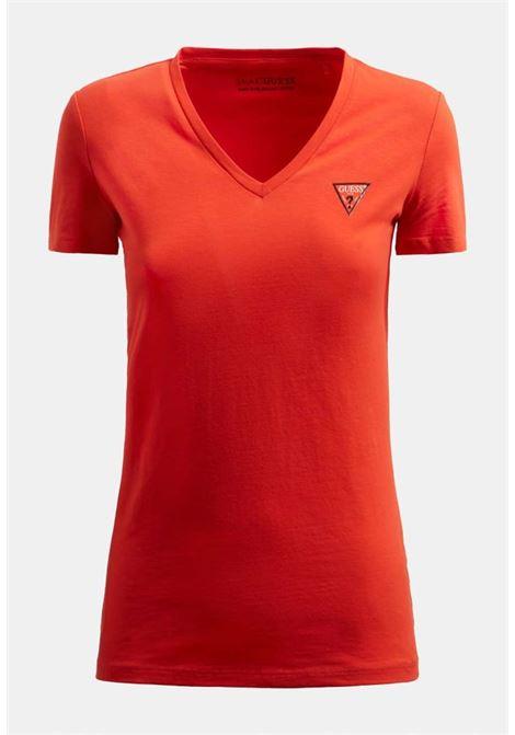 T-SHIRT ROSSA GUESS GUESS | T-shirt | W1GI17J1311AMBER