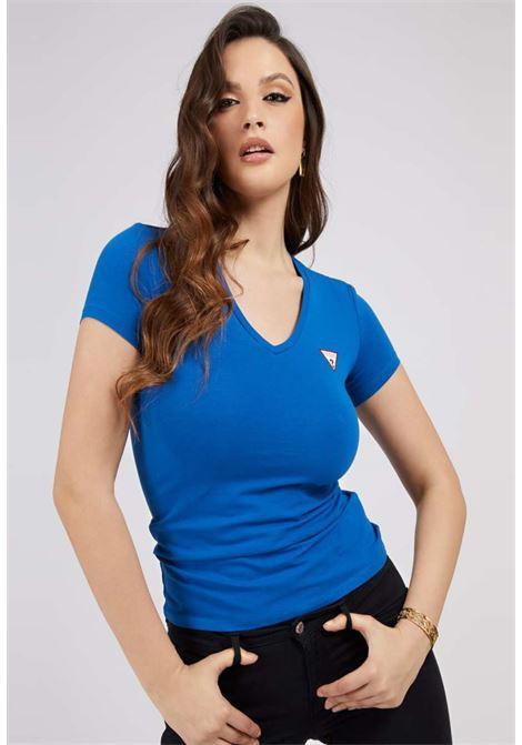 T-SHIRT BLU GUESS GUESS | T-shirt | W1GI17J1311ROYAL