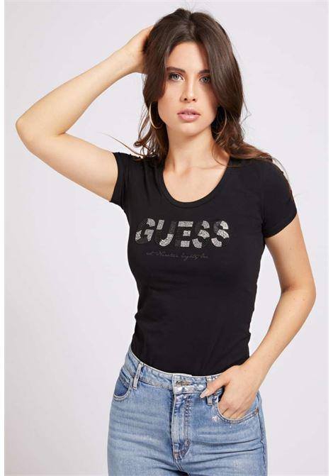 T-SHIRT NERA GUESS GUESS | T-shirt | W1GI36J1300NERO