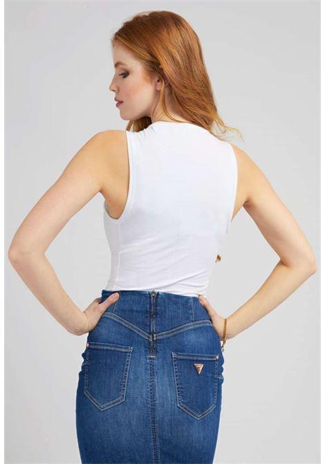 BODY CON TRIANGOLO GUESS GUESS | T-shirt | W1GP36J1311WHITE