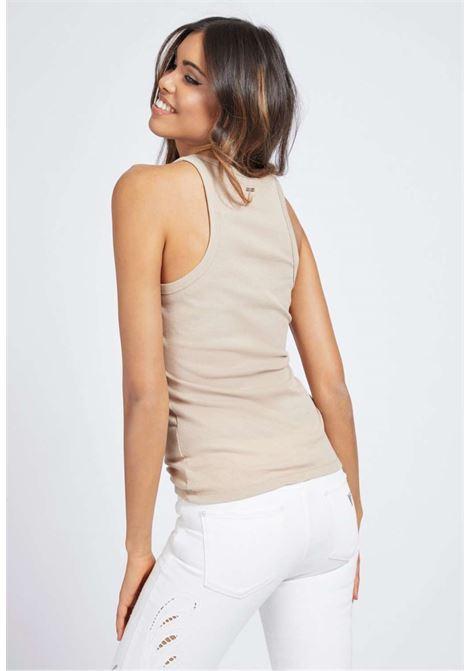 Canotta beige guess GUESS | T-shirt | W1GP84KAOU0BEIGE