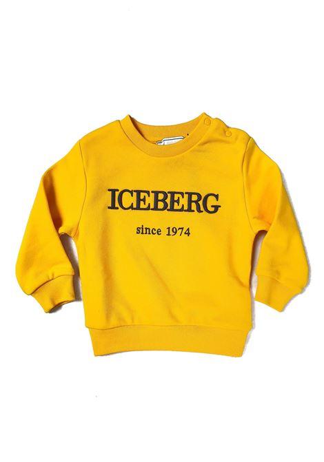 FELPA BASIC GIALLA LOGO RICAMATO FRONTALE iceberg | Felpe | MFICE1100BUNI