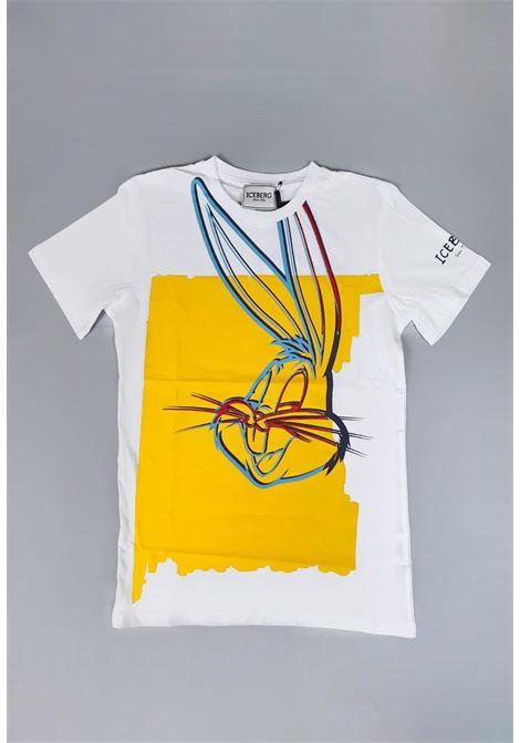 T-shirt Iceberg girocollo stampa Bugs Bunny iceberg | T-shirt | TSICE1102JUNI
