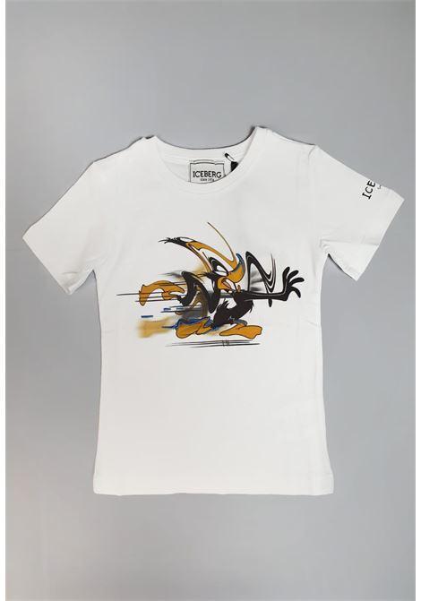 t-shirt girocollo bianca stampa looney tunes iceberg | T-shirt | TSICE1127BBIANCO