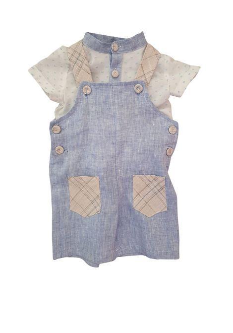 salopette in cotone con camicia in lino juju bebe | Salopette | 210103UNI