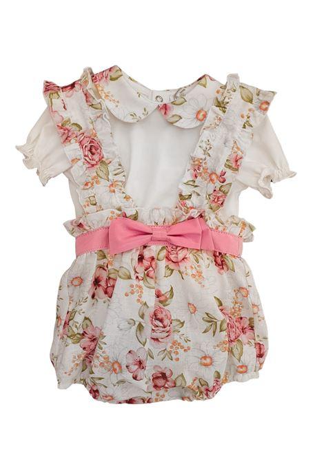 pagliaccetto due pezzi con camicia fantasia fiori juju bebe | Tutine | 210665FIORI