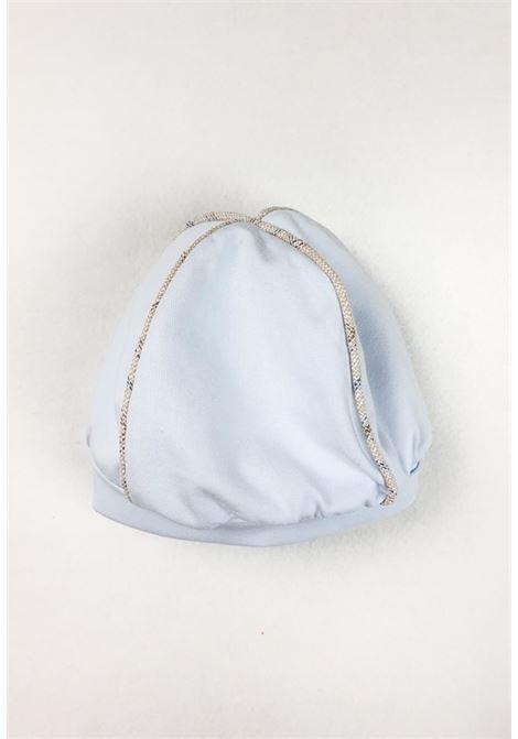 cappello in cotone azzurro e bordi beige juju bebe | Cappelli | 210723UNI