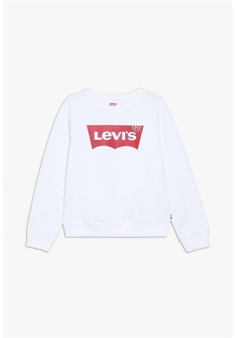 felpa in cotone basic con logo frontale rosso levis | Felpe | 3E6660UNI