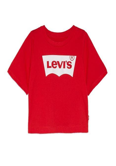 t-shirt corta mezza manica rossa con logo frontale levis | T-shirt | 4E0220UNI