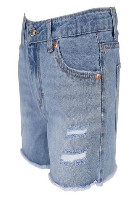 short in denim con finti strappi frontali levis | Gonna e Shorts | 4ED152UNI