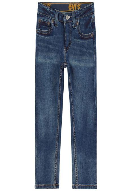 pantalone in denim con elastico in vita logato levis | Pantaloni | 8EC758UNI