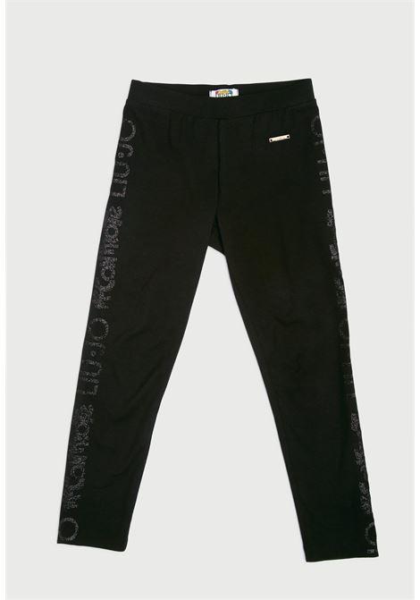 leggins nero bielastico con scritta laterale MECONTROTE liu jo | Pantaloni | 4B1317TX190UNI