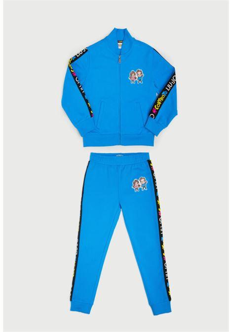 tuta completa felpa e pantaloni azzurra MECONTROTE liu jo | Completo | 4B1327TX190AZZURRO