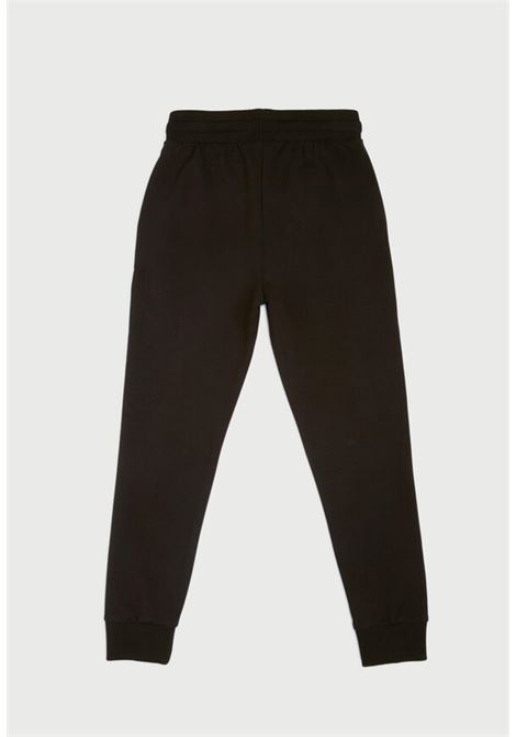 pantaloni in felpa nero con stampa frontale MECONTROTE liu jo | Pantaloni | 4B1333TX190UNI