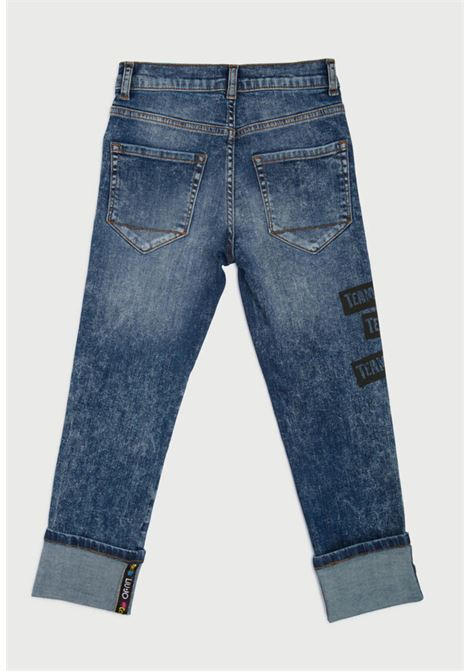pantalone in jeans con stampe frontali MECONTROTE liu jo | Pantaloni | 4B1343TX029UNI