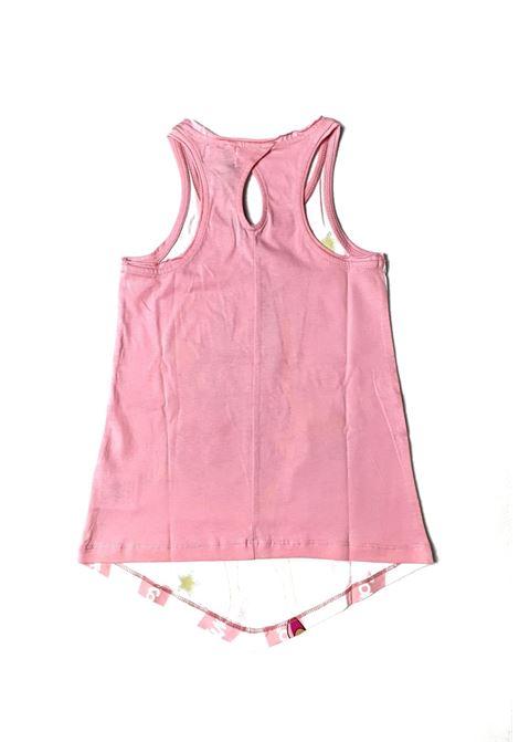 canotta con stampa frontale rosa mecontrote liu jo | T-shirt | 4B1359TX190UNI