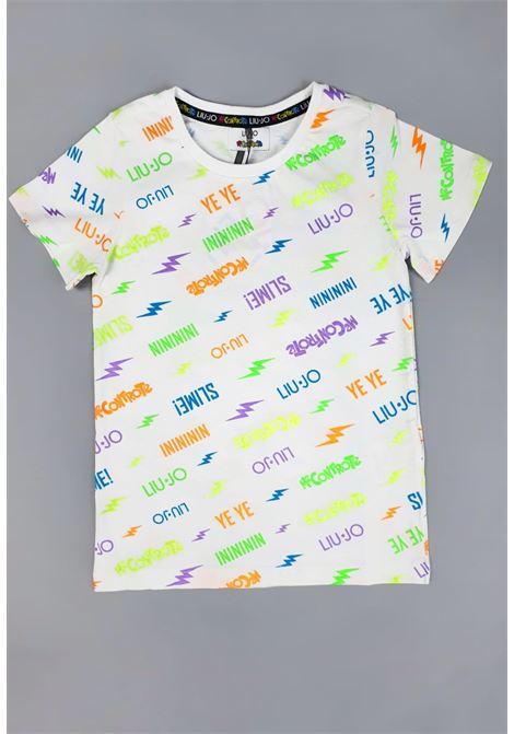 t-shirt mezza manica logata MECONTROTE liu jo | T-shirt | 4B1397TX190UNI