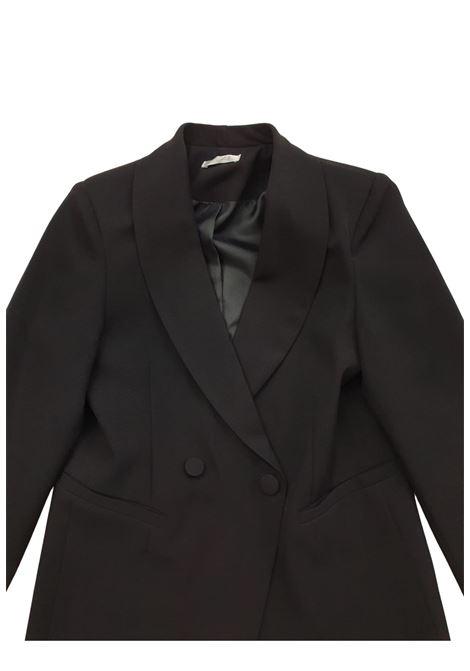 blazer in cotone nera lu-lù LULU | Capispalla | LL0236NERO