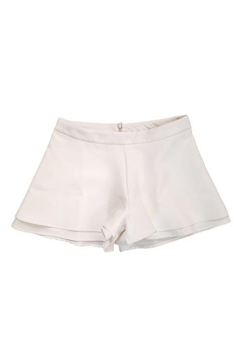 short in cotone bianco lù-lù LULU | Gonna e Shorts | LL0258UNIBIANCO