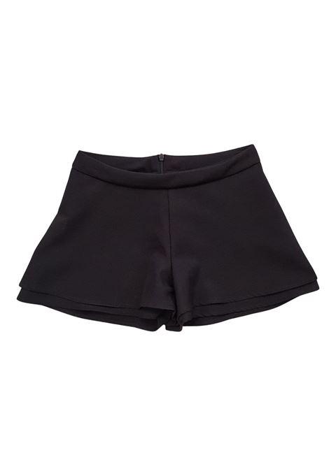 short in cotone nero lù-lù LULU | Gonna e Shorts | LL0258UNINERO