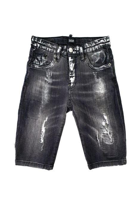 short in denim 5 tasche grigio satokii | Pantaloni | BE COLUMBIANERO