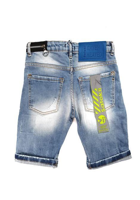 short in denim 5 tasche chiaro satokii | Pantaloni | BE DETROITJEANS