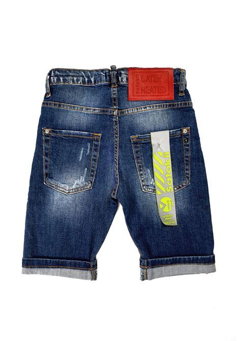 short in denim 5 tasche scuro satokii | Pantaloni | BE NIAGARAJEANS