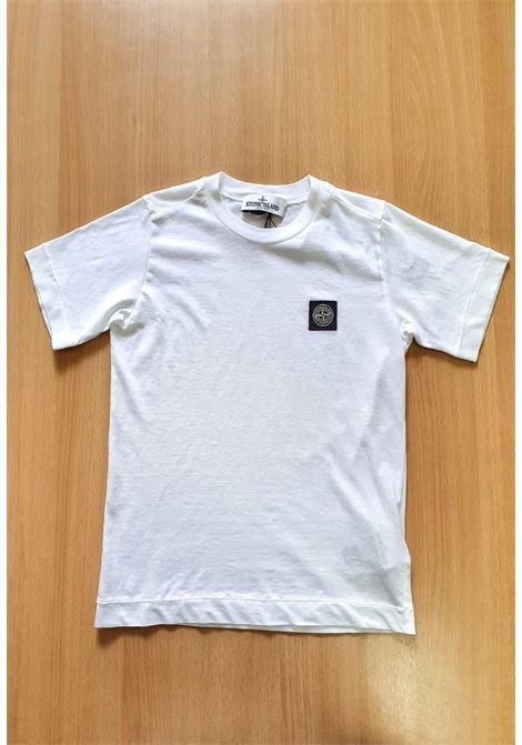 T-SHIRT MEZZA MANICA BIANCA CON LOGO stone island | T-shirt | 741620147V0001