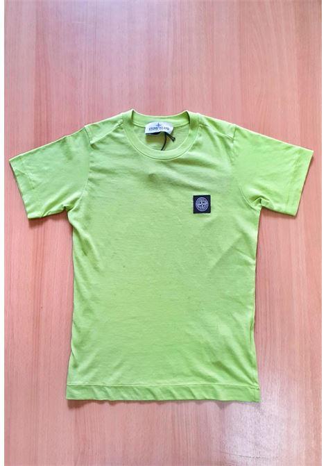 T-SHIRT MEZZA MANICA VERDE ACIDO CON LOGO stone island | T-shirt | 741620147V0031
