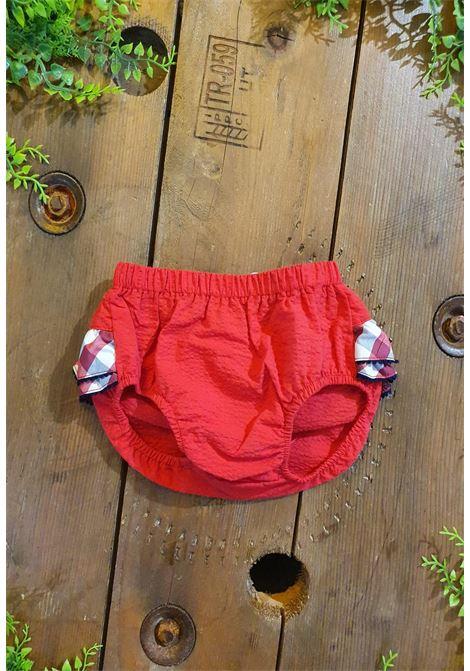 culotte rossa con riccetto posteriore tutto piccolo | Coulotte | 1327UNI