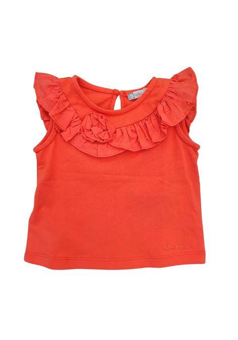 top in cotone corallo tutto piccolo | T-shirt | 1640UNI