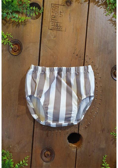 culotte in cotone bianca e fango tutto piccolo | Coulotte | 1712UNI