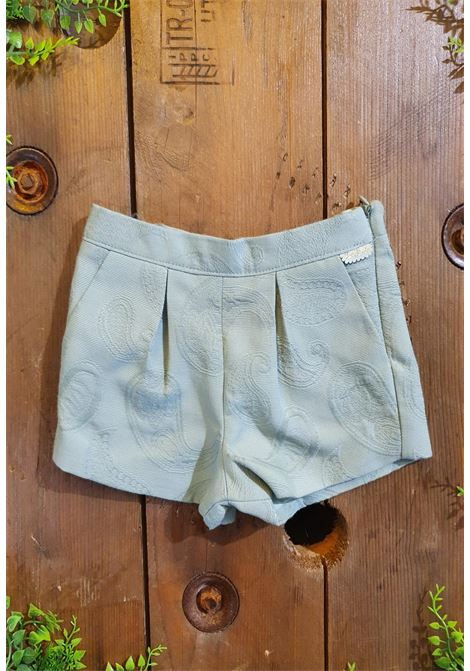 short in cotone con fantasia verde tutto piccolo | Pantaloni | 1836UNI