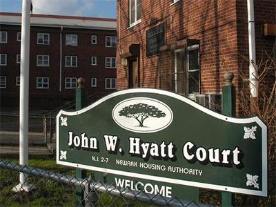 Image of Hyatt Court in Newark, New Jersey