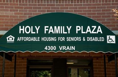 Image of Holy Family Plaza in Denver, Colorado