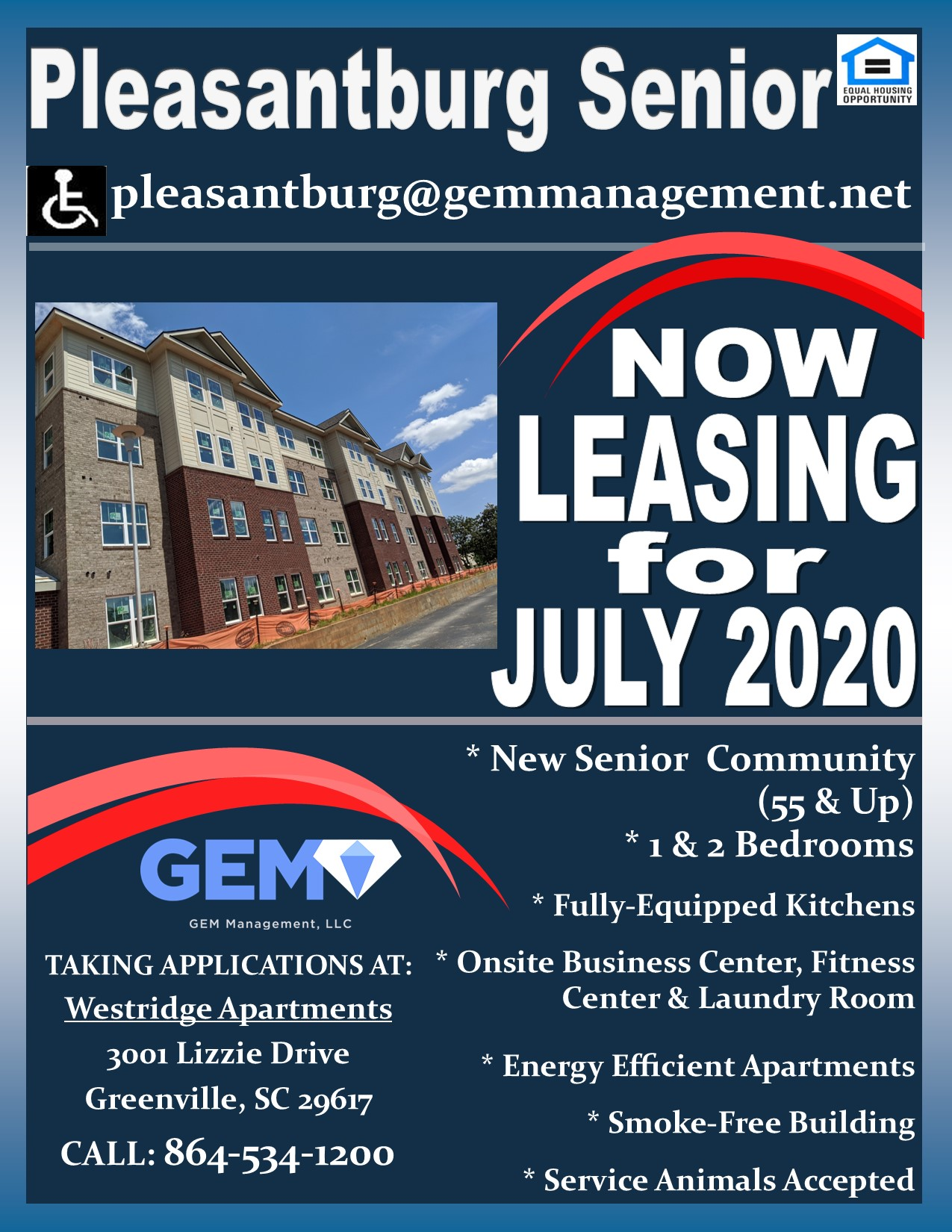 Image of Pleasantburg Senior Apartments in Greenville, South Carolina