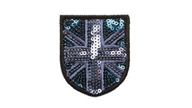 Blue/Navy Sequin Union Jack (Small)