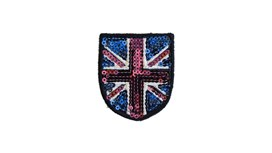 Sequin Union Jack Patch