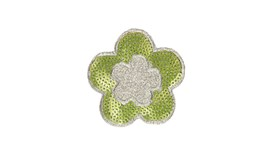 Silver/Lime Flower Patch