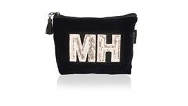 Personalised Midnight Navy Velvet Cosmetic Bag