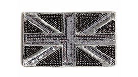 Black and Silver Union Jack Patch