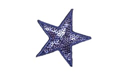 Blue Sequin Star