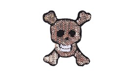 Sequin Skull Patch