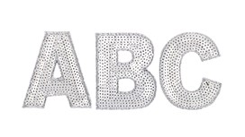 Huge Discounts on Silver Sequin Letter Patch Bundles