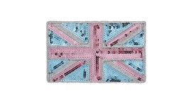 Blue and Pink Sequin Union Jack