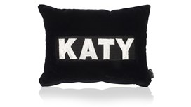 Personalised Midnight Navy Velvet Cushion