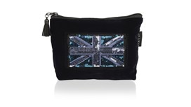 Customised Midnight Navy Velvet Cosmetic Pouch