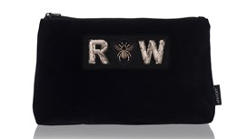 Diva Large Makeup Bag in Midnight Navy Velvet