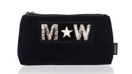 Diva Medium Pouch in Midnight Navy Velvet